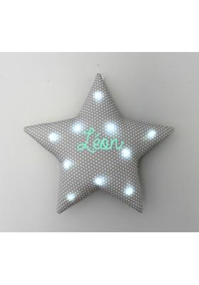 Veilleuse étoile grise étoiles blanches