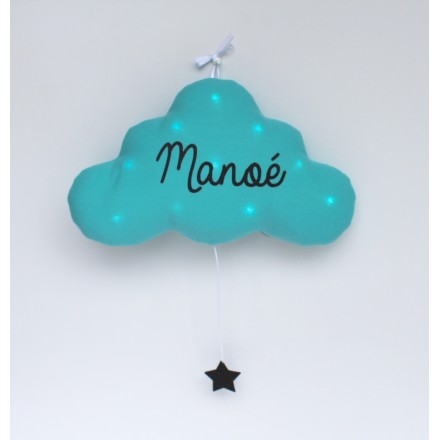 veilleuse nuage turquoise