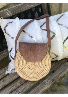 sac rond bandoulière en osier