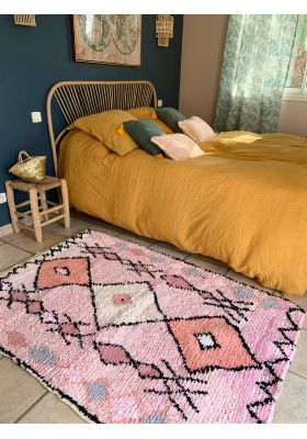 Veritable tapis marocain boucherouite