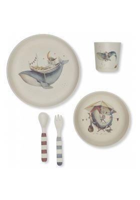 Coffret Repas 5 Pièces - Baleine Konges slojd