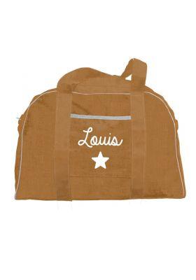 sac à langer lin terracotta